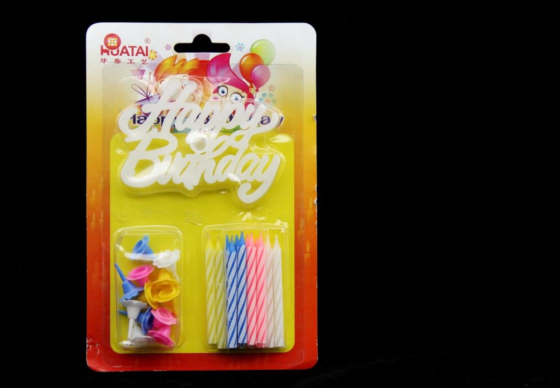 Spiral Birthday Candles With Plastic Flower Holder