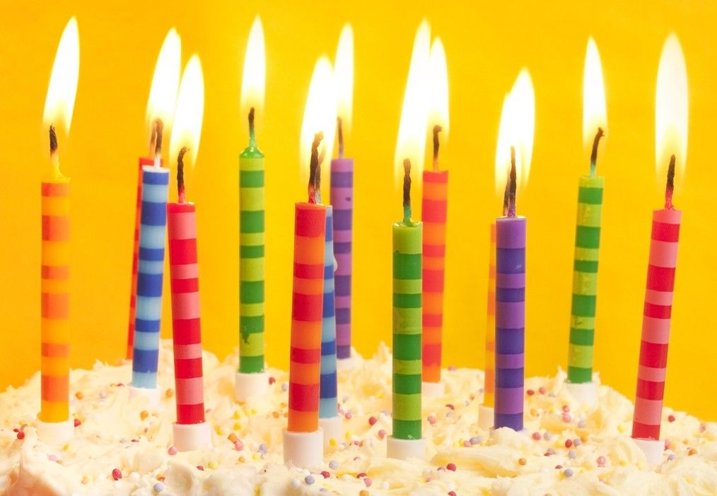 Scheme Color Streak Striped Birthday Candles , Beautiful Custom Birthday Candles
