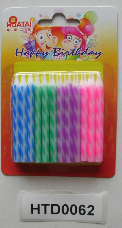 Colorful Diamond Dot Birthday Candles No Drip Environmentally Friendly OEM Sevice